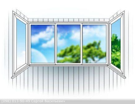 Балкон 3 м (3 створки)